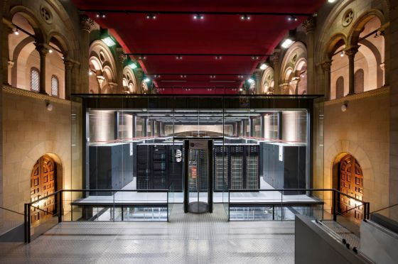Supercomputing Center de Barcelona, um centro pioneiro que abriga o supercomputador MareNostrum.