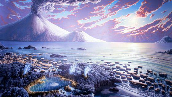 Recreación de la Tierra durante el eón Arcaico