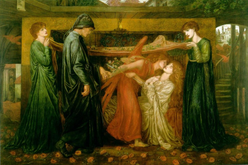 Dante Gabriel Rossetti, 'The Dante´s Dream', 1871