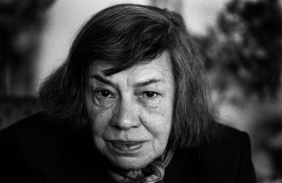 La escritora norteamericana Patricia Highsmith durante su estancia en Lleida en la década de los ochenta.