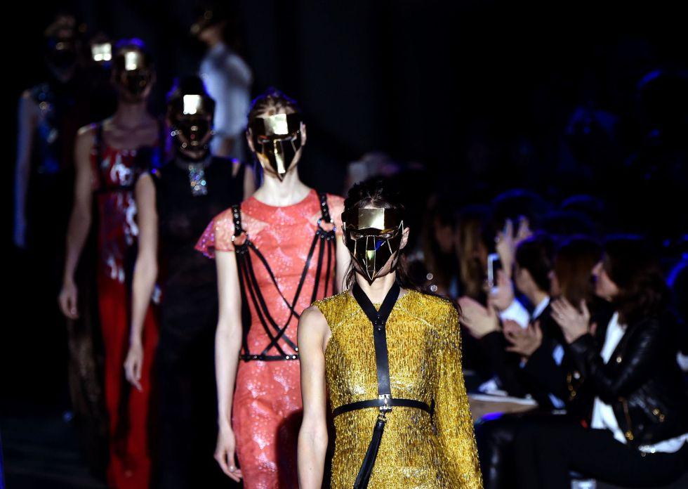 1f999d506 Desfile de Alvarno este lunes en la Mercedes-Benz Madrid Fashion Week de  Madrid.
