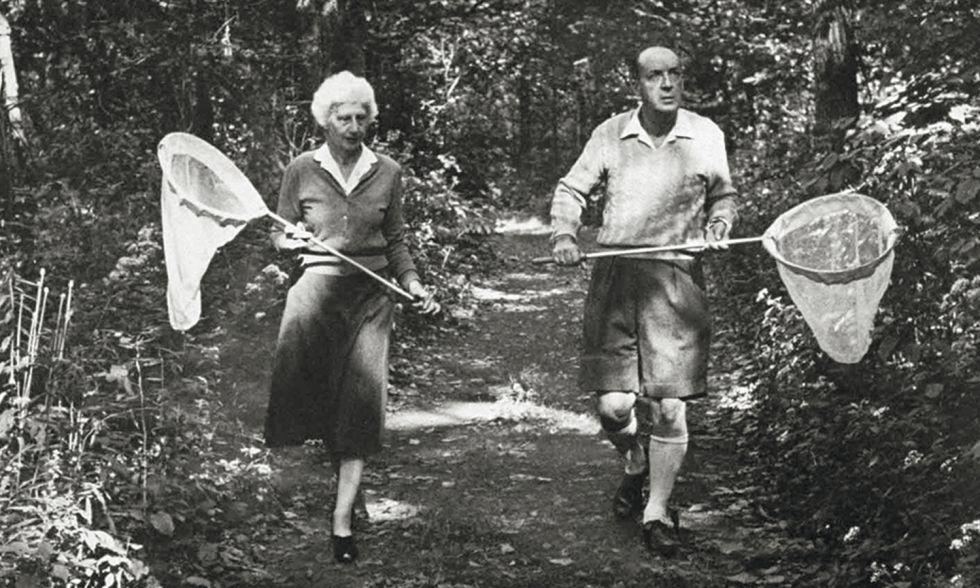 Véra y Vladímir Nabokov, en un retrato en 1958.