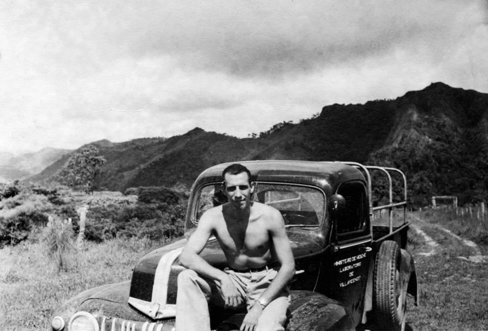 Julián de Zulueta en Villavicencio, Colombia, en 1949.