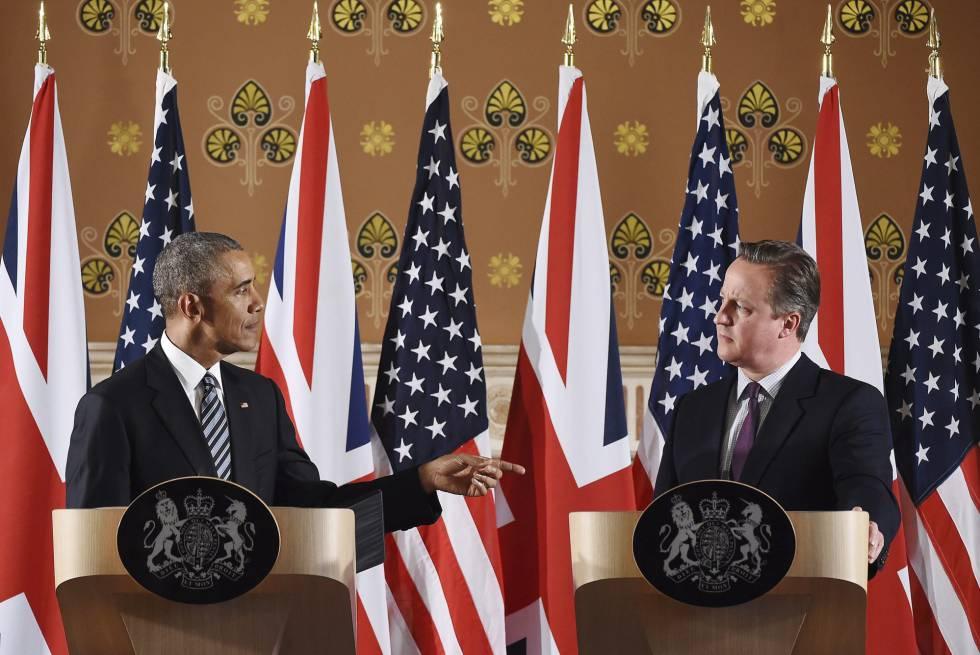 Barack Obama y David Cameron en Londres el pasado 22 de abril