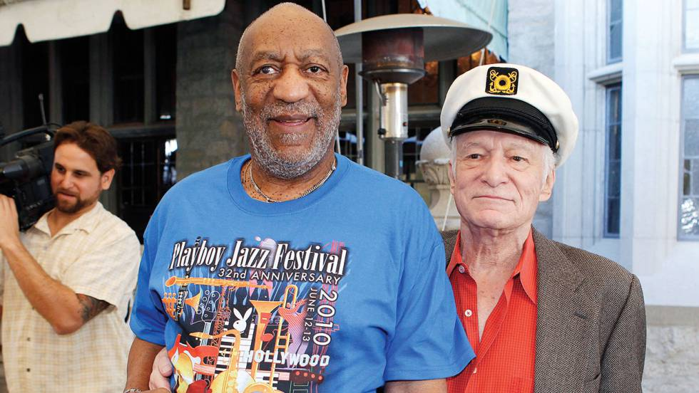 Bill Cosby y Hugh Hefner.