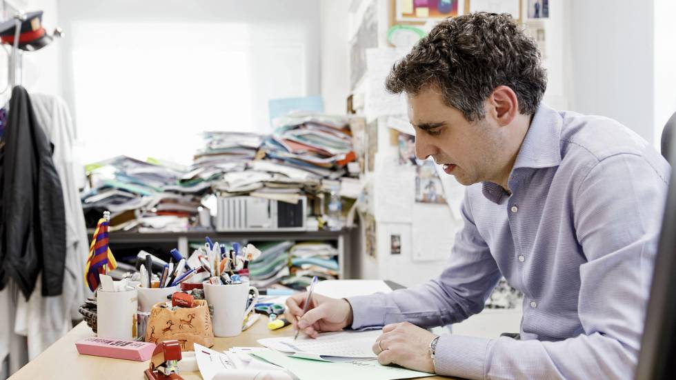 Manel Esteller at his Barcelona office.