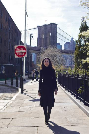 Strolling in Brooklyn, New York.