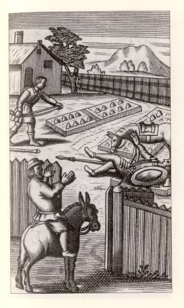 Ilustración del Quijote de Avellaneda 'Segundo tomo del ingenioso hidalgo Don Quijote de La Mancha'
