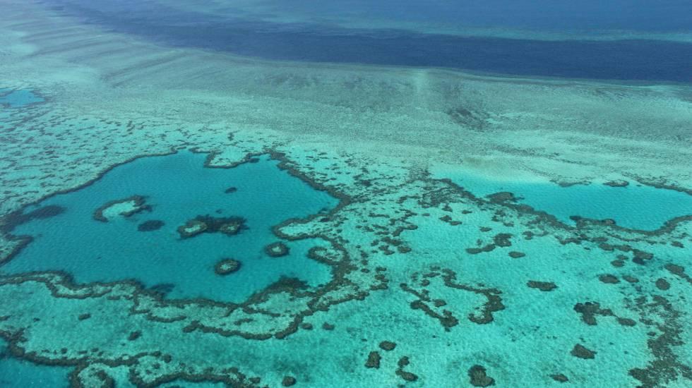 Imagen aérea de archivo de la Gran Barrera de Coral.
