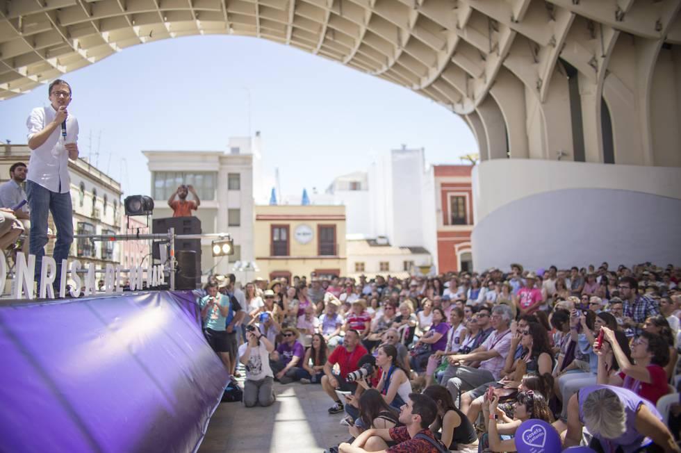 Mitin de Podemos en Sevilla