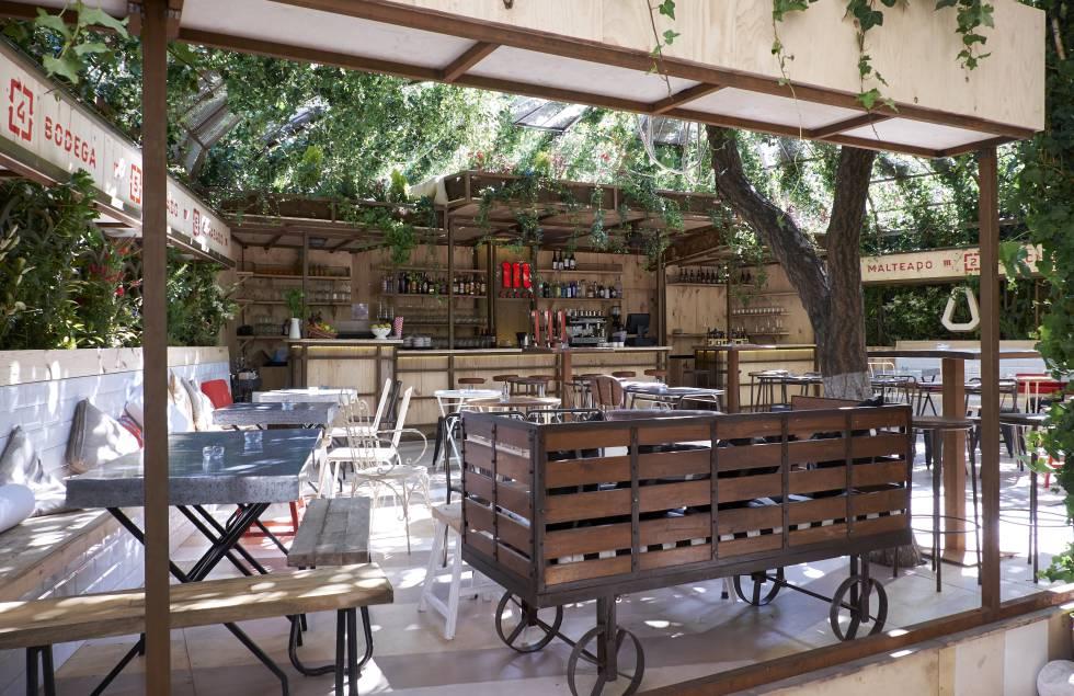 Arte y cocina en la terraza estilo el pa s for Cocinas en terrazas