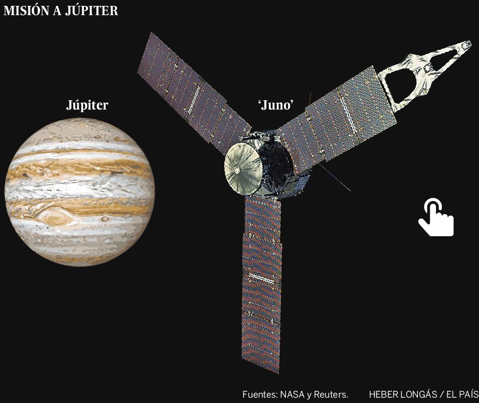 La sonda espacial 'Juno' llega a Júpiter tras cinco años de viaje