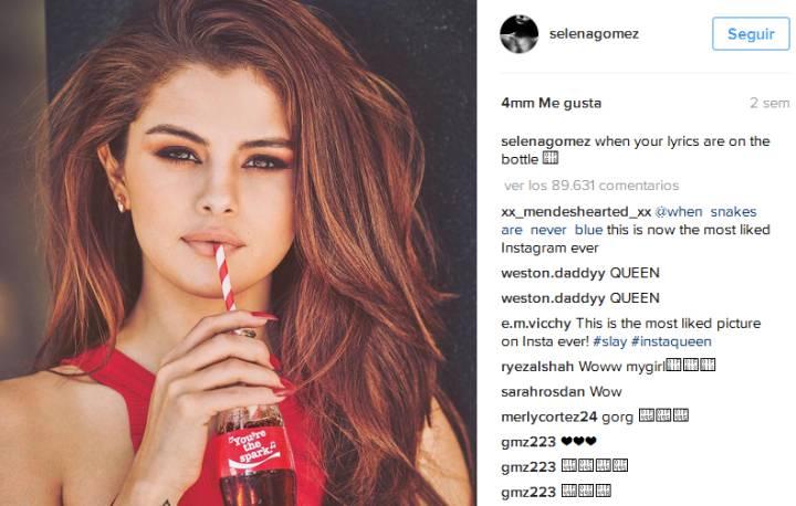 Selena Gómez consigue la foto con más likes en instagram -2