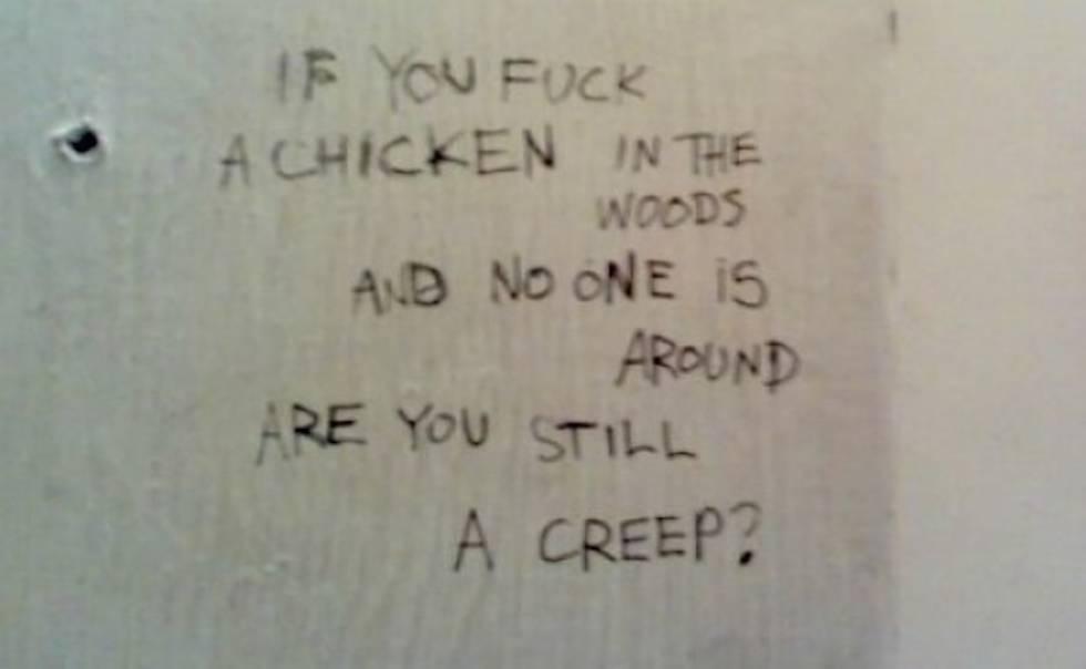 Todav a escribimos frases tan guarras y siniestras como estas en los ba os p blicos - Sexo en banos publicos ...