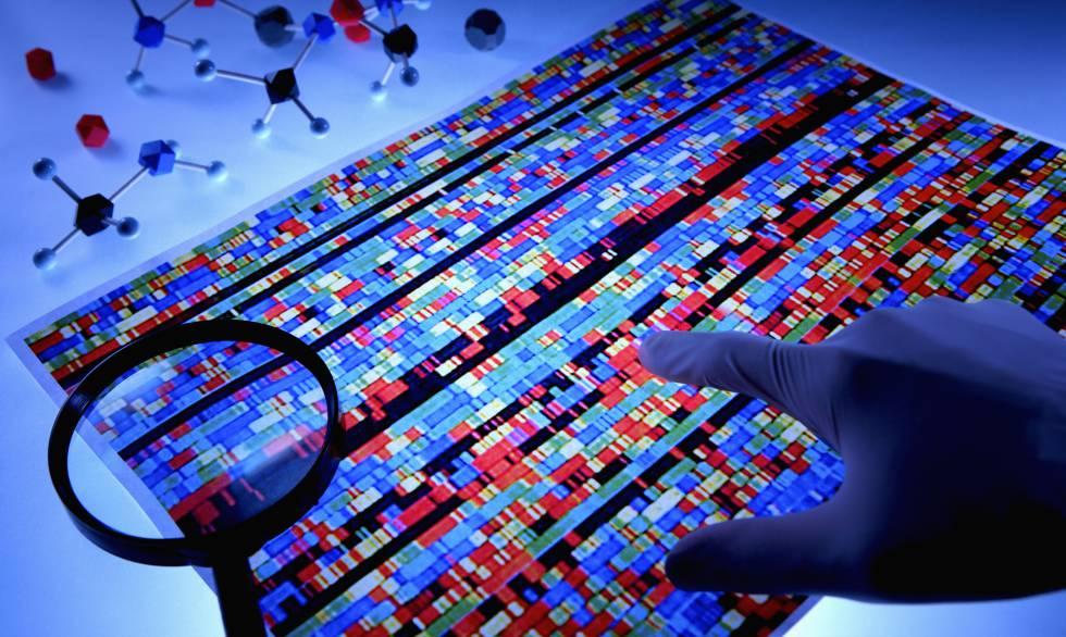 Representación de una secuencia de ADN