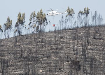 Incendio forestal en El Castillo de las Guardas