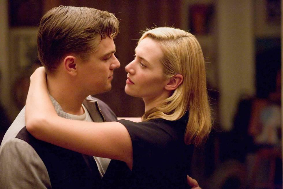 Leonardo DiCaprio e Kate Winslet se convencendo de que são felizes em 'Foi Apenas um Sonho' (2008).
