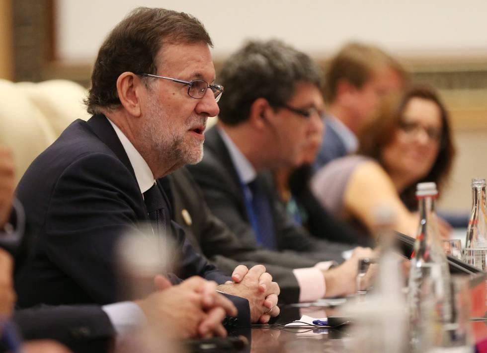 Mariano Rajoy, durante la cumbre del G-20 en China.