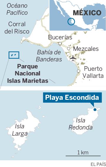 Playa del amor mxico protege una de las playas ms bonitas del localizacin de la playa escondida del amor en las islas marietas mxico altavistaventures Images