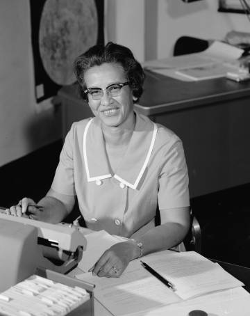 A matemática Katherine Johnson na NASA.