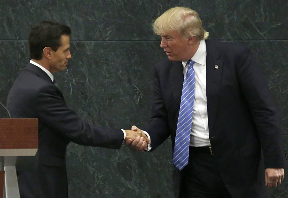 El presidente de México, Enrique Peña Nieto y el candidato republicano Donald Trump