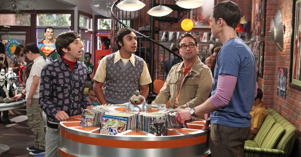 De izquierda a derecha: Simon Helberg, Kunal Nayyar, Johnny Galecki y Jim Parsons, protagonistas masculinos de 'Big Bnag Theory.
