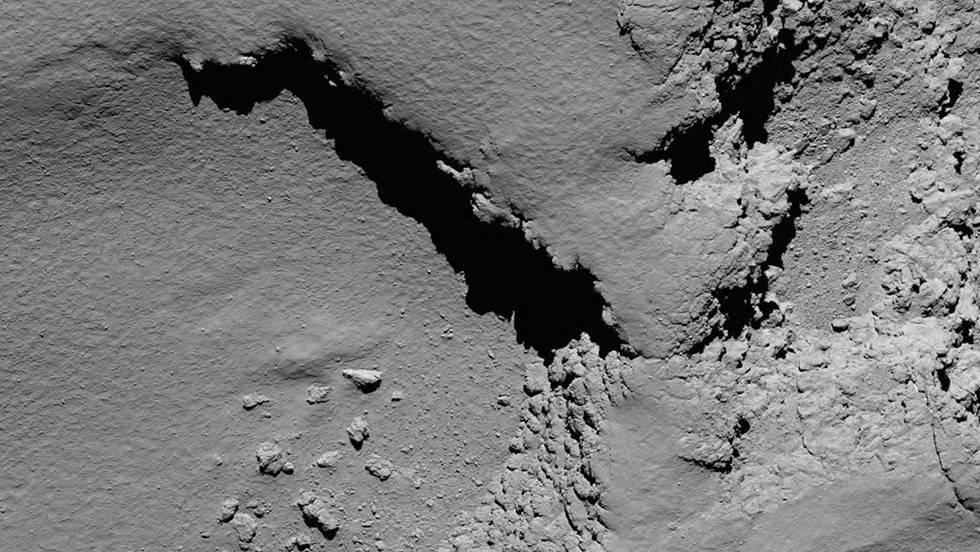 Uma das últimas fotos divulgadas pela Agência Espacial Europeia, tomada pela 'Rosetta'.