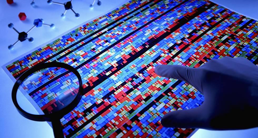 Mapa de ADN humano.