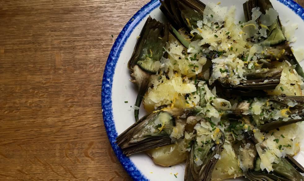 Patatas y alcachofas con limón y pecorino | Planeta Futuro | EL PAÍS