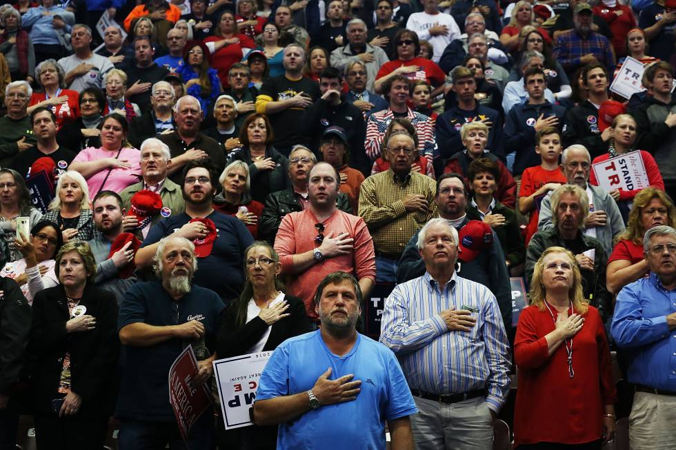 Partidarios de Donald Trump en un mitin en Pennsylvania