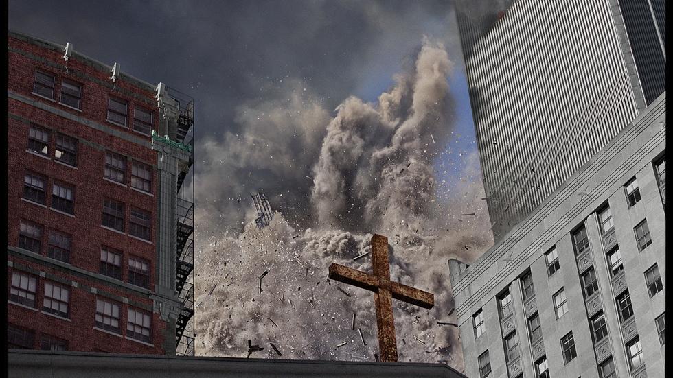 """Impacto del segundo avión contra las Torres Gemelas, el 11-S. """"Creí que tenía todo el tiempo del mundo para hacer la foto. En el último instante me di cuenta de que estaba a punto de ser barrido"""", confesó a la revista Time."""