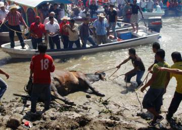 The Mexican patron saint feast where tired, old bulls are tortured