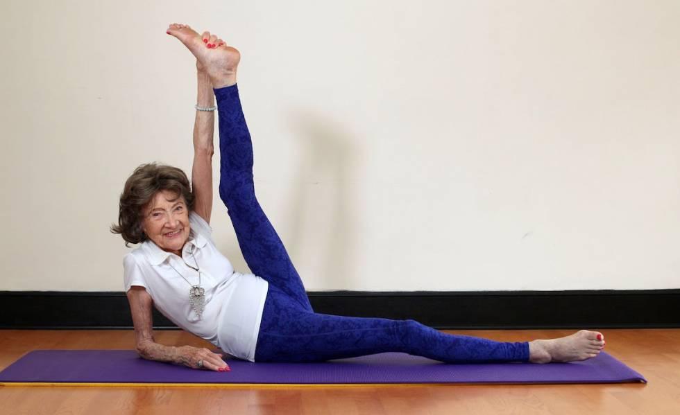profesora de yoga