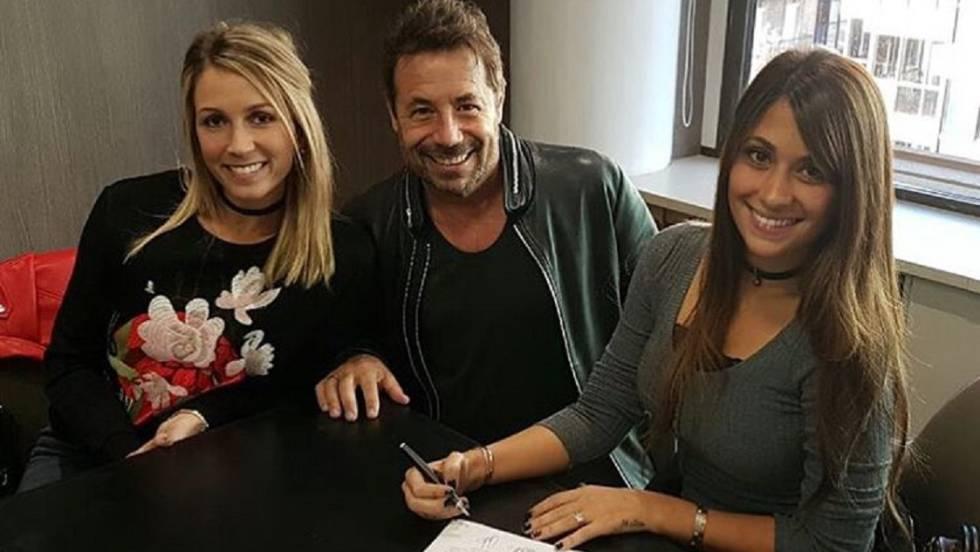 Sofía Balbi, Ricky Sarkany y Antonella Roccuzzo, en una imagen de Instagram.