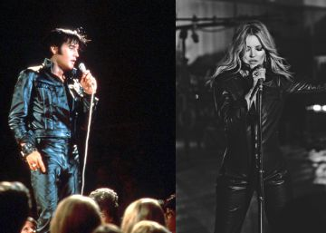 Kate Moss 'canta' a lo Elvis Presley
