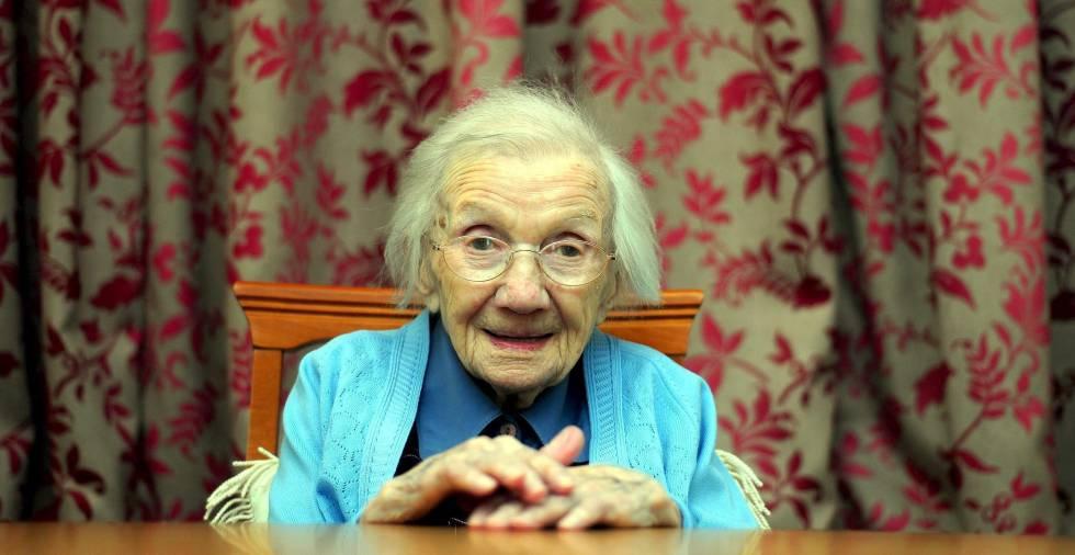 Jessie Gallan, la mujer más anciana de Escocia.