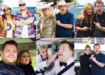 Los famosos copilotos de James Corden en el 'Carpool Karaoke'