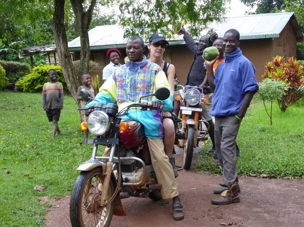 Taking a spin on a boda boda – one of the Igayaza community tourism initiative's activities.