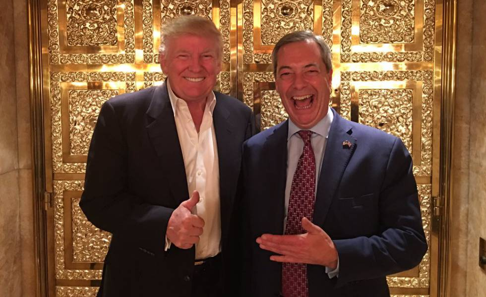 Donald Trump con Nigel Farage