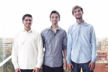 Javier Rodríguez, Pablo Vidarte y Alexandre Díaz, fundadores de Bioo.