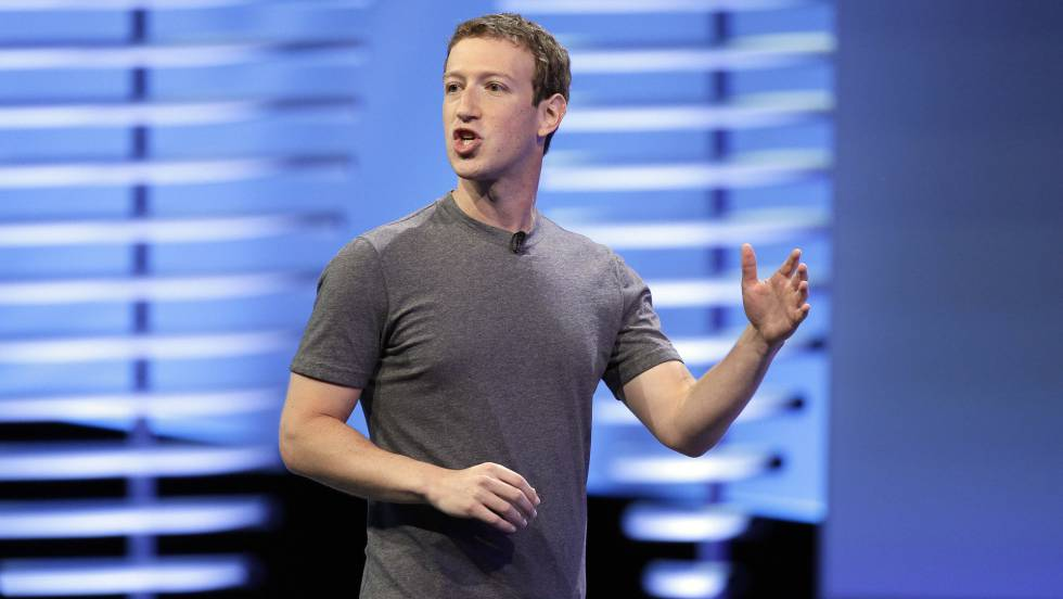 Mark Zuckerberg, CEO de Facebook en una conferencia.rn