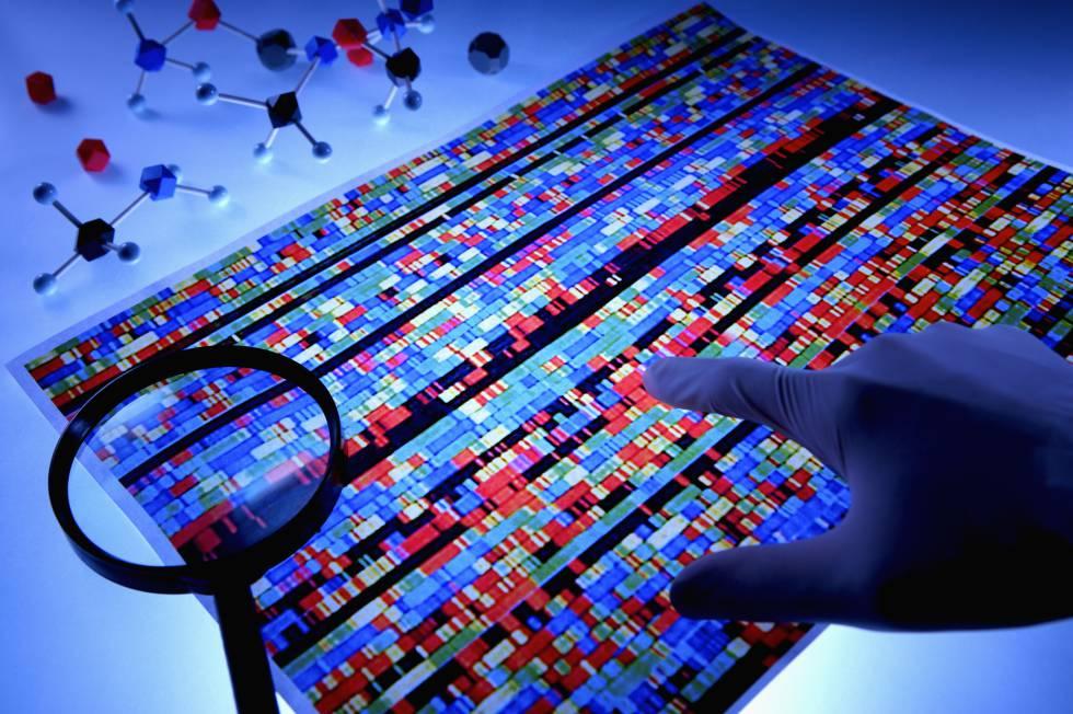 Representación de una secuencia de ADN de una persona.rn rn