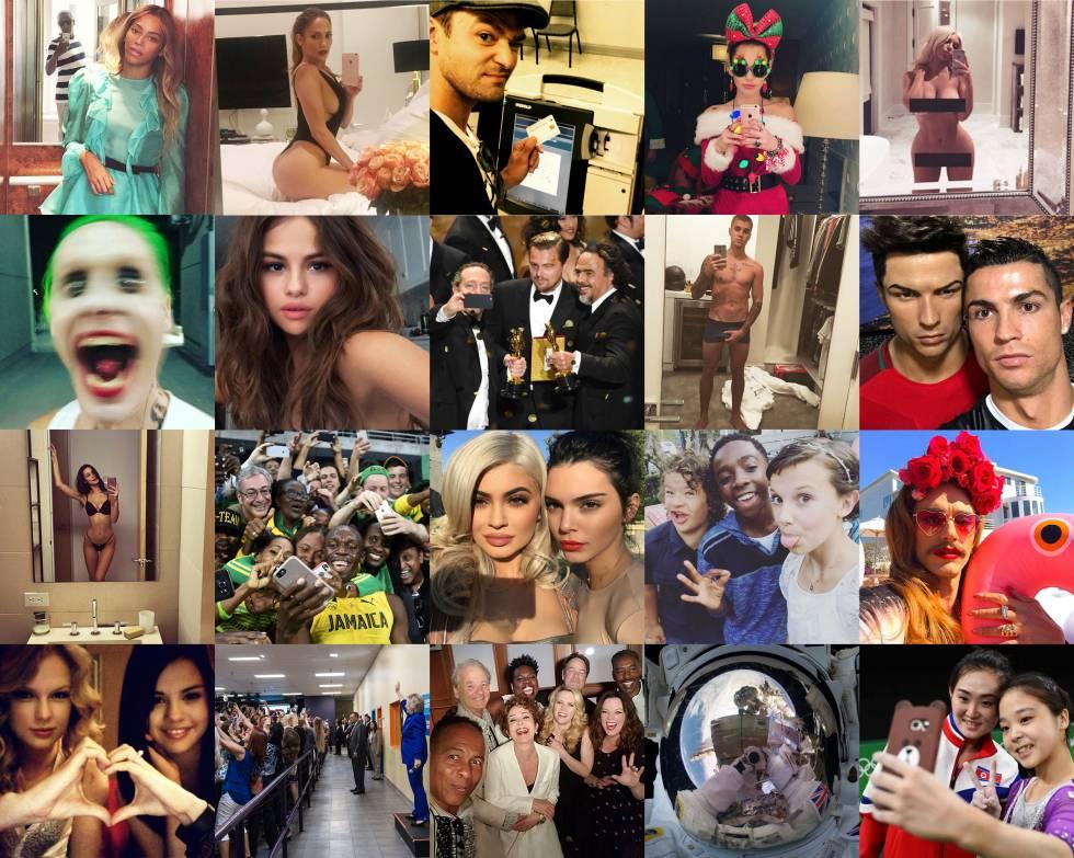 Los 20 'selfies' más icónidos de 2016, según la revista 'Icon'.