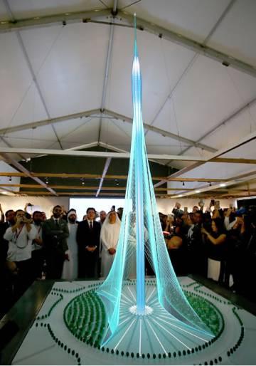 santiago calatrava durante la presentacin de su proyecto de edificio ms alto del mundo