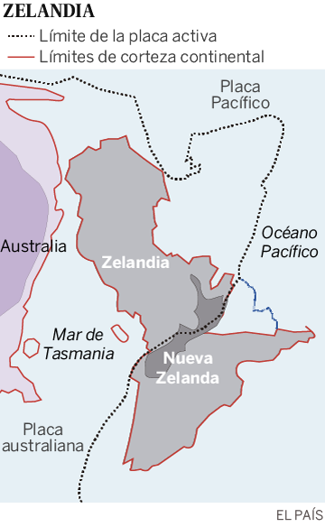 Hallado Zelandia, un enorme continente sumergido en el Pacífico