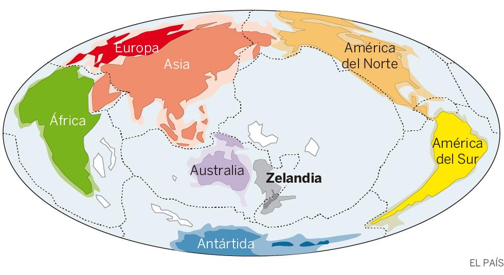 Donde Esta Nueva Zelanda Mapa Mundi.Hallado Zelandia Un Enorme Continente Sumergido En El