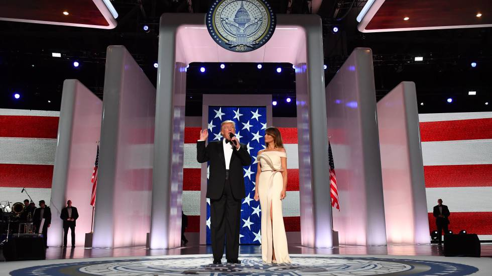 Donald Trump i Melania Trump a Washington D. C.
