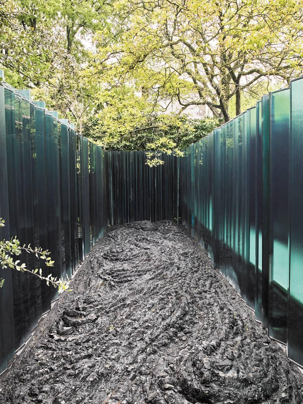 patio privado de les cols en olot