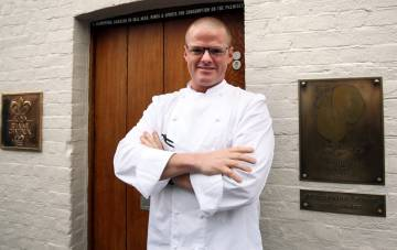 El chef Heston Blumenthal en su restaurante Fat Duck.