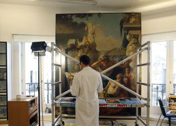 en el taller de restauracin del museo thyssen